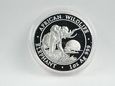 *** 100 chelines plata somalia 2009 African Wildlife Elephant elefante moneda **