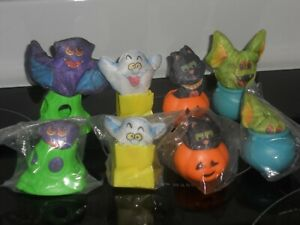 SEALED Vintage Set of 4 Hardee's 1989 Halloween Hide-A-Ways - Hallmark Smooshees