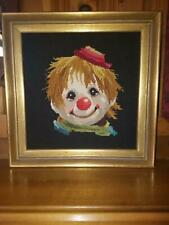 Clown Face Needle Point, Professionally Framed and Ready to Hang Check This Out