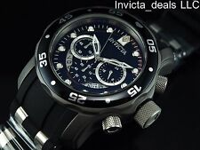 Invicta Men's 48mm TI-22 Scuba Chronograph Titanium Black Alloy Dial SS Watch