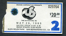 1983 US Festival Concert Ticket Stub Motley Crue Van Halen Judas Priest Ozzy