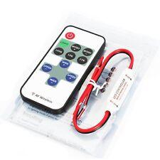 5V 12V RF Wireless Remote Control LED Switch LED Strip Light Controller Dimmer
