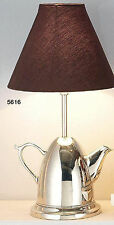 Hoff Interieur 5616 Floor Lamp Tea-Pot 25 x 25 x 50 cm Cloth Screen Brown
