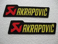 2x Sticker Aufkleber Akrapovic Racing Motorradsport Biker Motorradcross Race GT