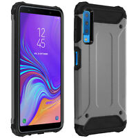 Defender II Series Protection Case for Galaxy A7 2018, Drop proof(1,80m)- Silver
