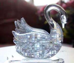 DIY 3D Puzzle Crystal Puzzle White Swan 44 Pieces Educational Activity