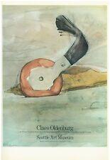 Claes Oldenburg 1975 Poster Seattle Art Museum printed 1978