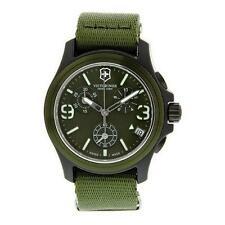 NEW Victorinox Swiss Army Men's Chrono Green Watch 241531 Retail $450.00