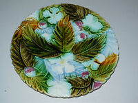 ANTIQUE French MAJOLICA PLATE -ORCHIES- Floral/Fruits pattern: MULBERRY PLANE 1
