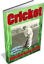 CRICKET 39 Vintage Books on DVD - Bat,Gloves,W G Grace,Grips,Pads,History