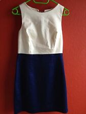 H&M Etui-Kleid Größe 38 Creme/ dunkelblau