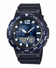 AEQ-100W-2A Blue Casio Men's Watches Standard 10-Year Battery AE-Q100W