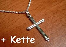 925 ECHT SILBER ***  Kreuz Anhänger + Kette Kreuzkette