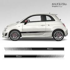 Fiat 500 Voiture Bandes latérales Graphique Stickers Autocollants Auto Paire Racing 595 ABARTH