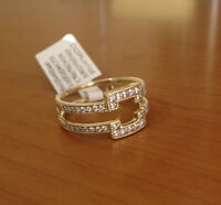 14K Yellow Gold Over 1.00Ct Princess Cut White Diamond Women's Wrap Ring Guard