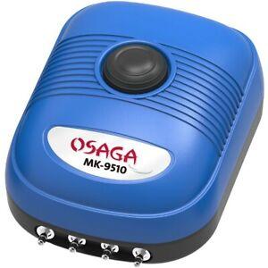 OSAGA MK9510 AERATORE COMPRESSORE ARIA OSSIGENATORE ACQUARIO DOLCE MARINO 10 L/M