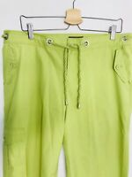 Tommy Bahama Womens Pants Capri Crop 100% Cotton Spring Green Rope Tie Sz 14