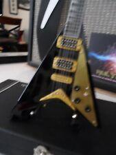 RANDY RHOADS- Signature Black Concorde V 1:4 Scale Replica Guitar ~Axe Heaven