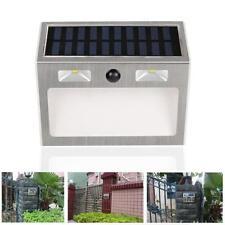 Solar Powered 3LED House Door Address Number Doorplate Light Outdoor Lamp