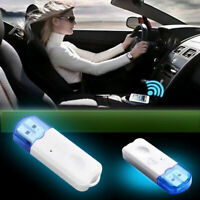Car USB Bluetooth Stereo Audio Music Wireless Speaker Receiver Adapter Useful