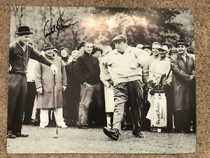 Arnold Palmer Masters Legend Signed 11x14 Photo with Jackie Gleason