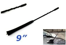 "Radio Antenna Black OEM Replacement AM FM 9"" Screw Roof Aerial Mast Whip Spiral"