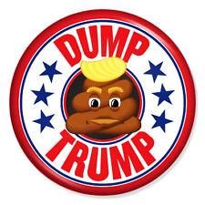 """DONALD TRUMP PROTEST ANTI-TRUMP 25mm 1"""" Pin Badge POOP DUMP IMPEACH"""