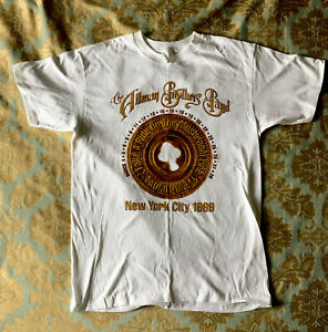 """1999 The Allman Brothers Band """"New York Tour"""" Date T-shirt Size Large"""