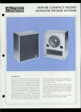 Rare Original Factory Altec 9849-8B Monitor Speaker Dealer Sheet Page