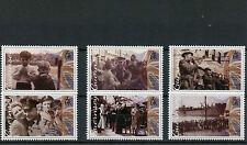 Guernsey 2015 MNH liberazione settantesimo anniversario seconda guerra mondiale 6V Set seconda guerra mondiale due