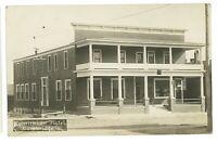 RPPC Tomlinson Hotel CAMBRIDGE IA Iowa Real Photo Postcard