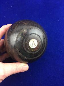 Antique J. Darlington Liverpool Lawn Bowling Bowl Monogrammed Wood Bocce Ball