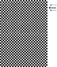A4 checkered sheet 6mm Fun sticker self adhesive vinyl decal dub check flag