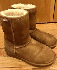 Women's EMU Australia Stinger Lo Chestnut Brown Winter Boot Size 8 M