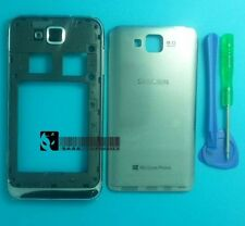 New Full Housing Back Cover Door Lcd Frame For Samsung Ativ S I8750 Silver