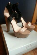 Scarpe donna tacco alto Jessica Simpson 38.5 size 8.5 Nude plateau