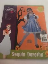 WIZARD OF OZ SEQUIN DOROTHY COSTUME SIZE CHILD SMALL (4-6) ~Defect~