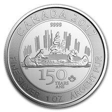 1 oncia Canada Foglia Acero 150 Anni Voyageur 2017 999 Argento Moneta d'argento