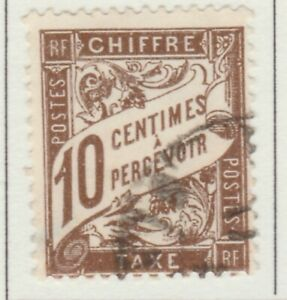 France Postage Due Timbre Taxe 1893-1935 10c Fine Used A13P55F282