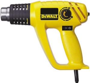 DeWALT DW340K-GB Adjustable Heat Gun, +600°C Max, Hot Air, 230V, 2kW, 3-Pin Plug