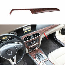 For Benz C Class 2010 2014 Agate Wood Grain Middle Console Dashboard Panel Trim