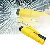 Keychain Car Emergency Rescue Glass Breaker Seat Belt Cutter Hammer Whistle
