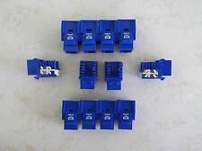 50 Pack Cat-6 Keystone Jacks in Blue **TUFF JACKS QUALITY** Lifetime Warranty