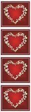 Mrs. Grossman's Stickers - Lily of the Valley Heart - Photo Flowers - 4 Strips