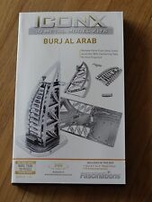 Burj Al Arab ICONX 3D Laser Cut Metal Model Kit Fascinations ICX012