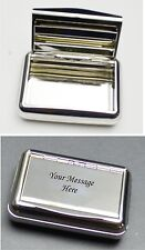 personalised engraved tabbacco tin and cigarette roller, father day gifts