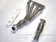 Manzo Stainless Steel Exhaust Header Fits Mini Cooper R53 02 - 06 1.6L Cooper S