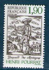 """TIMBRE N° 2475 NEUF XX LUXE - """"GASPARD DES MONTAGNES""""  ECRIVAIN HENRI POURRAT"""
