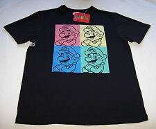 Nintendo Super Mario Mens Black Printed T Shirt Size M New