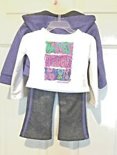 "Skechers Active Girls  ""Live Life Dream"" 3-Piece Sweatsuit, Size 18 months, NWT!"